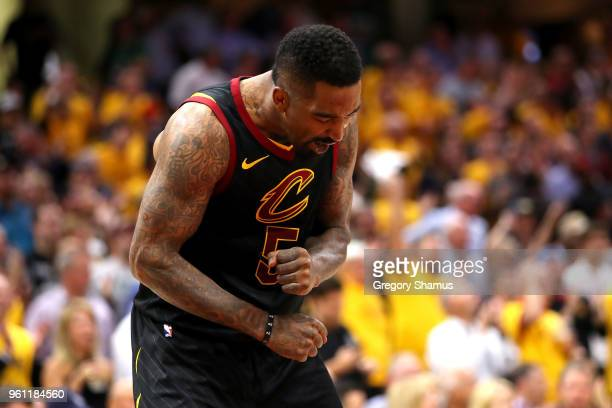 Smith of the Cleveland Cavaliers reacts in the fourth quarter against the Boston Celtics during Game Four of the 2018 NBA Eastern Conference Finals...