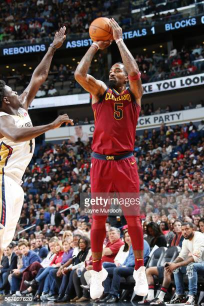 Smith of the Cleveland Cavaliers shoots the ball against the New Orleans Pelicans on October 28 2017 at the Smoothie King Center in New Orleans...