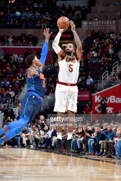 Smith of the Cleveland Cavaliers shoots the ball against the Oklahoma City Thunder on November 7 2018 at Quicken Loans Arena in Cleveland Ohio NOTE...