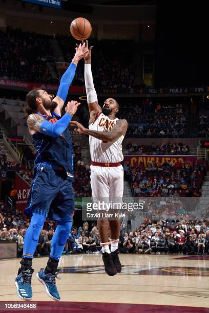 Smith of the Cleveland Cavaliers shoots the ball against the Oklahoma City Thunder n November 7 2018 at Quicken Loans Arena in Cleveland Ohio NOTE TO...