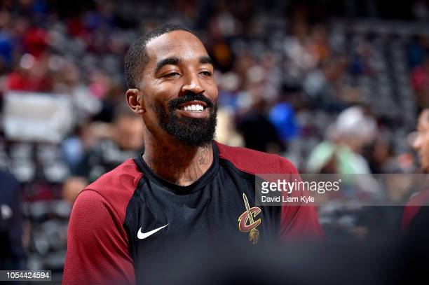 Smith of the Cleveland Cavaliers smiles before the game against the Indiana Pacers on October 27 2018 at Quicken Loans Arena in Cleveland Ohio NOTE...