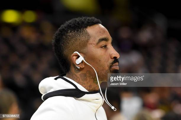 Smith of the Cleveland Cavaliers warms up prior to Game Four of the 2018 NBA Finals against the Golden State Warriors at Quicken Loans Arena on June...