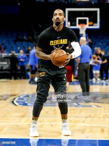 Smith of the Cleveland Cavaliers warms up with a pair of BEATS headphones on before the game against the Orlando Magic at the Amway Center on...