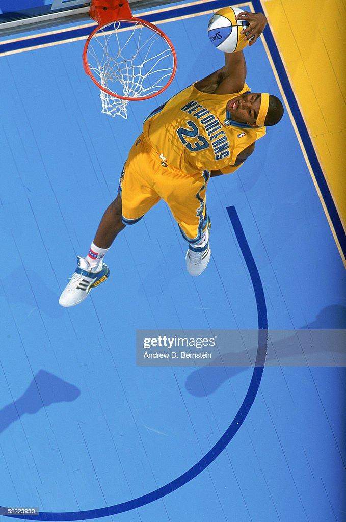2005 Sprite Rising Stars Slam Dunk Contest : News Photo