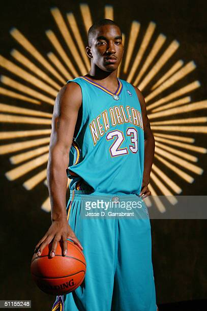 R Smith of the New Orleans Hornets poses for a portrait during the 2004 NBA Rookie Shoot at the Madison Square Garden Training Facility on August 2...