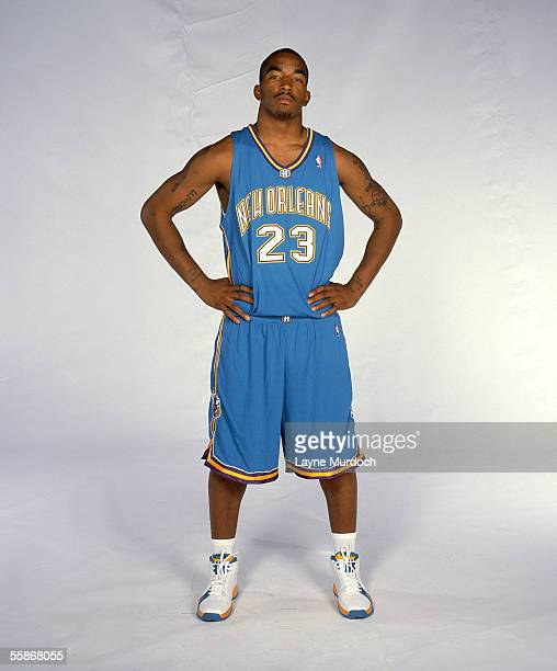 R Smith of the New Orleans/Oklahoma City Hornets poses for a portrait during NBA Media Day at Ford Center on October 3 2005 in Oklahoma City Oklahoma...