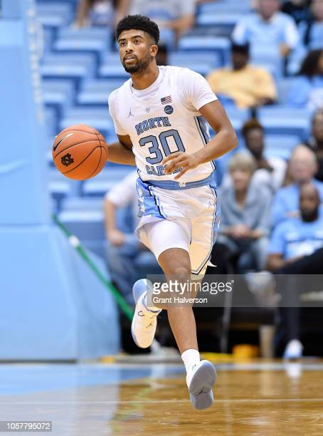 J Smith of the North Carolina Tar Heels during their game against the Mount Olive Trojans at the Dean Smith Center on November 2 2018 in Chapel Hill...