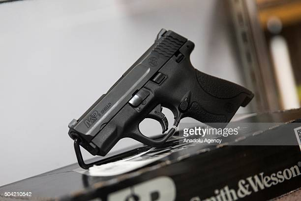 Smith Wesson MP Shield 9mm pistol for sale at Blue Ridge Arsenal in Chantilly Va USA on January 9 2015
