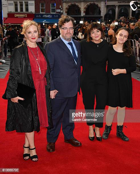 J SmithCameron director Kenneth Lonergan guest and Nellie Lonergan attend the 'Manchester By The Sea' International Premiere screening during the...