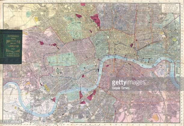 1892 Smith's Pocket Map of London England