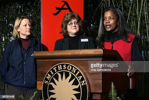 Smithsonian National Zoological Park Chief Veterinarian Suzan Murray zoo reproductive scientist JoGayle Howard and Assistant Curator for Pandas Lisa...