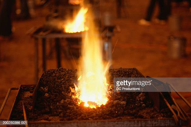 smithy fires, calgary stampede, canada, (close-up) - calgary stampede stock pictures, royalty-free photos & images