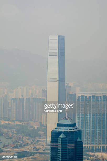 Smog covered Hong Kong.