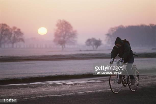 Smog in Dublin Ireland circa 1990
