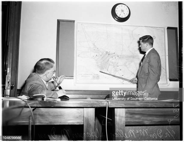 Smog meeting Pasadena City Hall 29 October 1952 AI Stewart Warren M Dorn Clarence A Winder Don McMillan