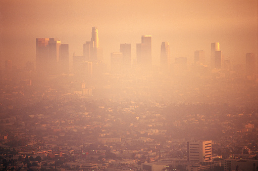 Smog over Los Angeles - gettyimageskorea