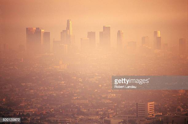 smog over los angeles - smog stock pictures, royalty-free photos & images
