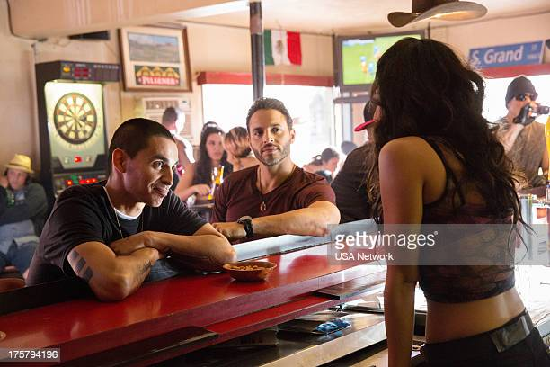 GRACELAND Smoke Alarm Episode 108 Pictured Manny Montana as Johnny Turturro Daniel Sunjata as Paul Briggs