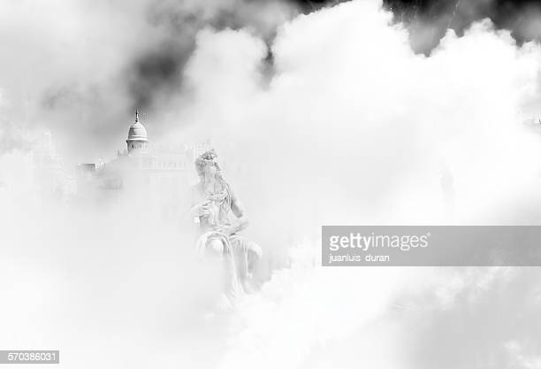 Smoke at the Fallas festival, Valencia, Spain