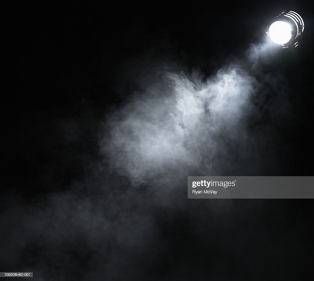 Smoke beneath spotlight : Stock-Foto