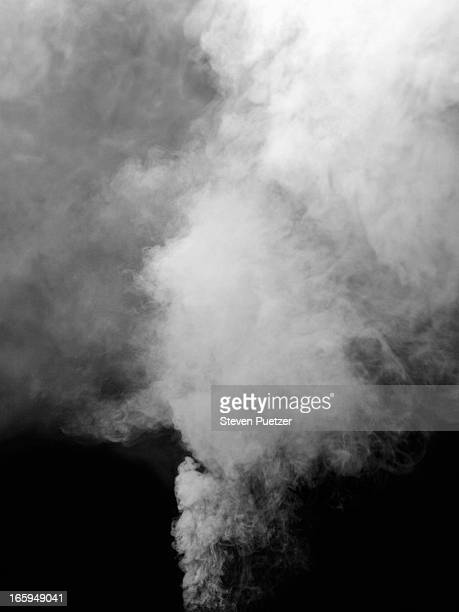 Smoke billowing from ground
