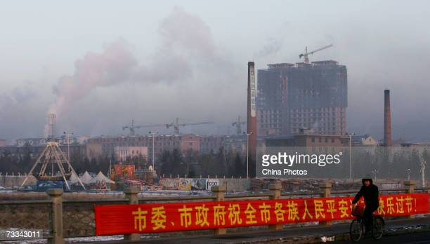 Smoke billows from a coalfuelled plant on February 16 2007 in Yanji China Qin Dahe head of the China Meteorological Administration blamed global...