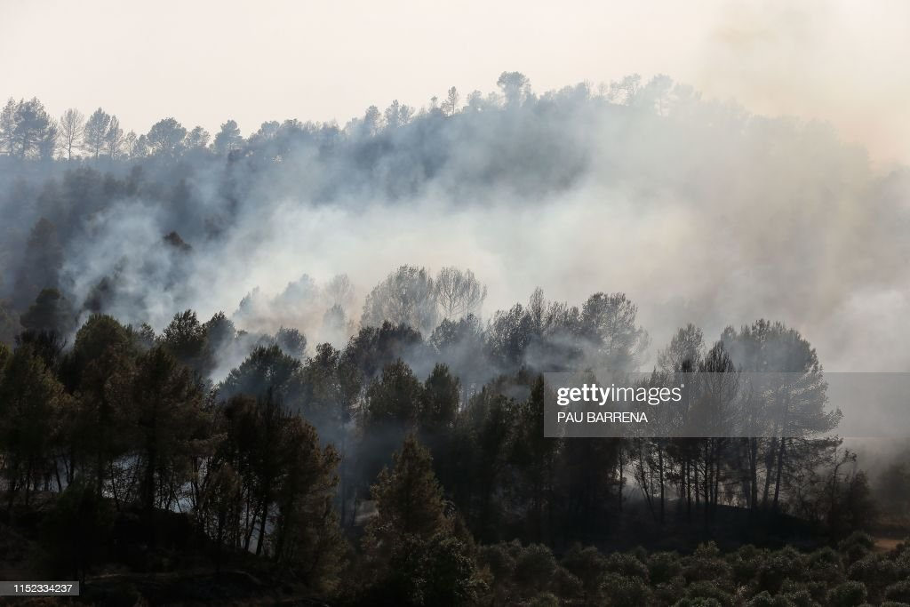 SPAIN-FIRE-WEATHER : News Photo