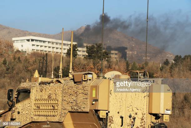 Smoke billows from the Intercontinental Hotel after an attack by armed gunmen in Kabul Afghanistan 21 January 2018 On 20 January a group of armed...