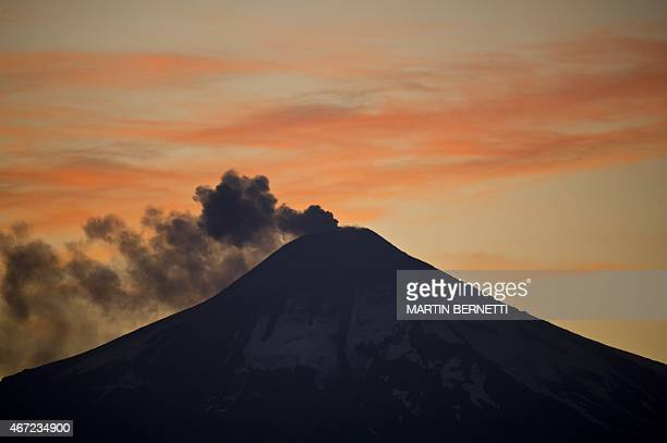 Smoke billows from the Villarrica volcano near Villarrica in southern Chile on March 22 2015 Earlier this month in its first major eruption in 15...