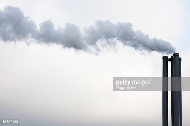 Smoke coming from industrial chimney