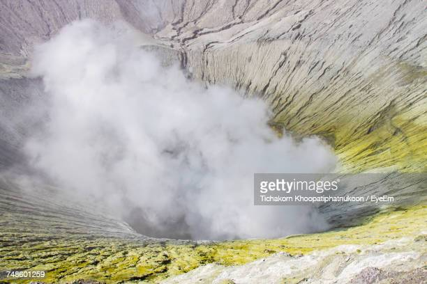 Smoke Emitting From Bromo Volcano Crater