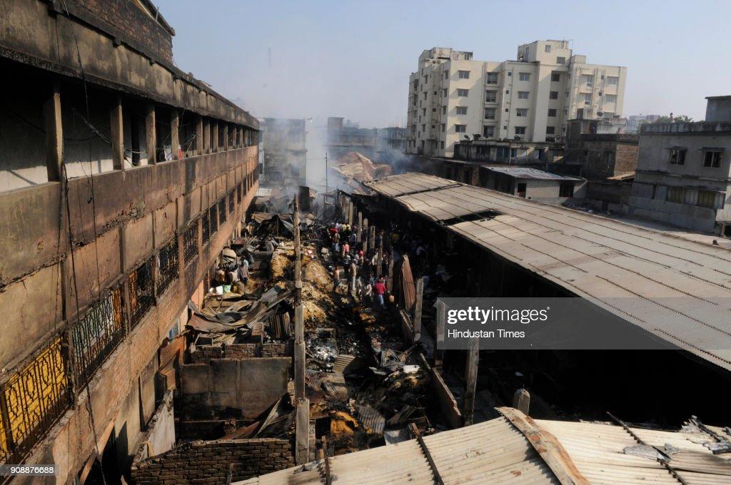 Major Fire Guts 150 Shops At Gorabazar In Kolkata