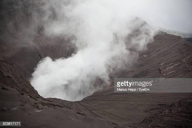 Smoke Erupting From A Volcano