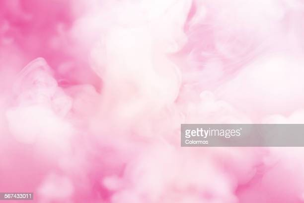 Smoke floating and swirling in the air