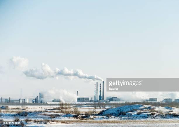 Rauch aus dem Kraftwerk