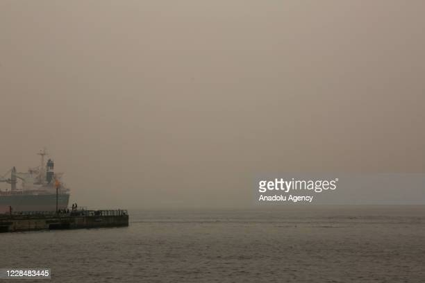 Smoke from wildfires fills the air in Vancouver, British Columbia, Canada on September 12, 2020. Vancouver was listed as one of the cities with the...