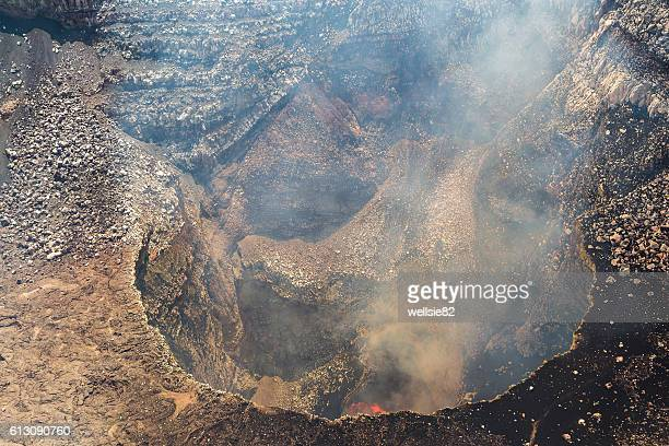 smoke & gases escape the gates of hell - masaya volcano stock pictures, royalty-free photos & images