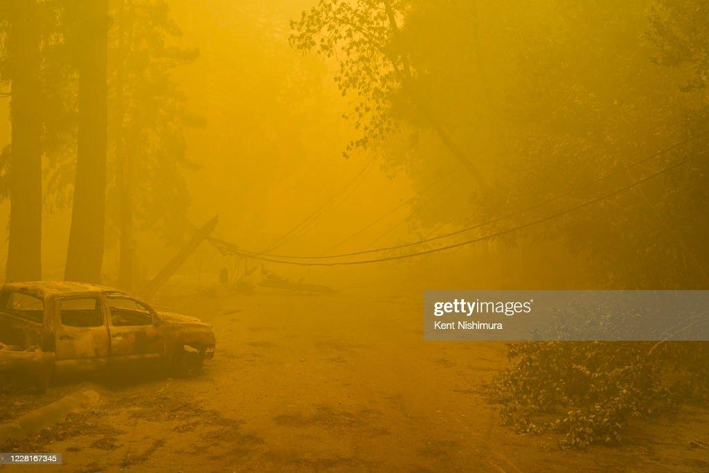 CZU August Lightning Complex Fires tears through Big Basin Redwoods State Park : News Photo