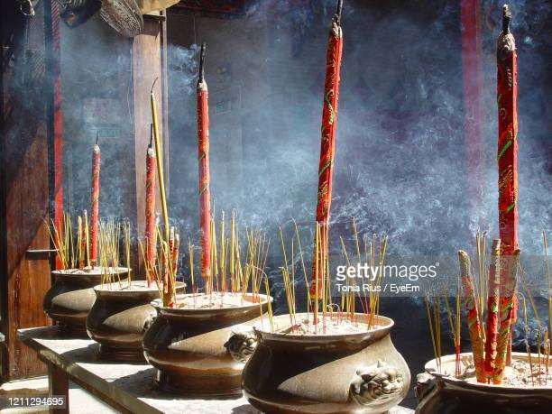 smoke in a temple - burning stock pictures, royalty-free photos & images