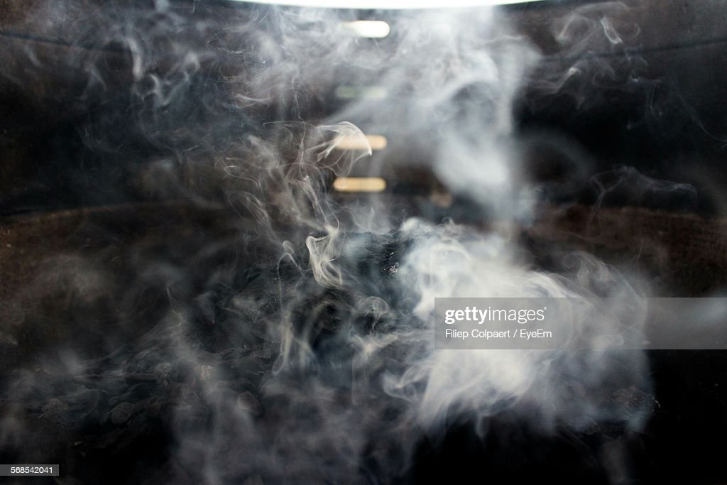 Smoke In Room At Home : Stock Photo