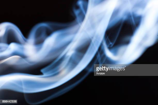 smoke macro shot with blackbackground