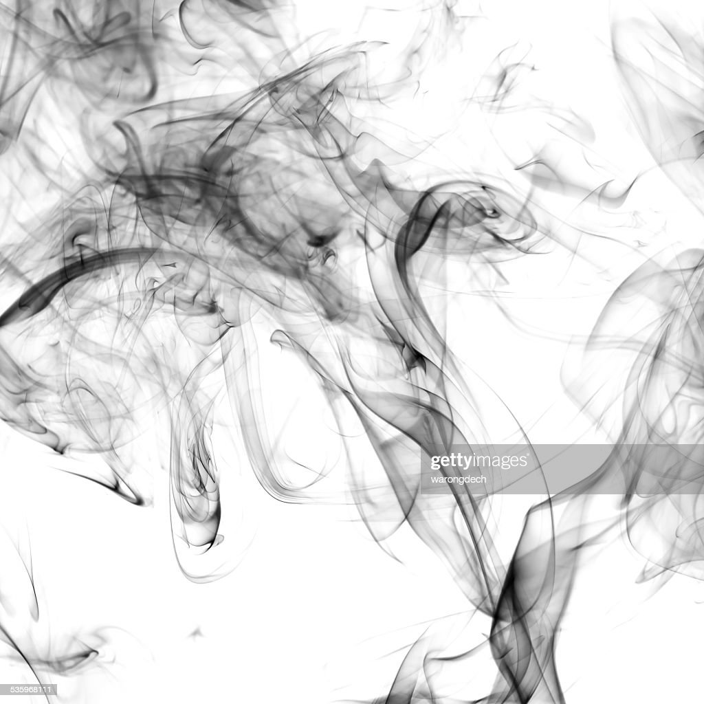 Smoke on white background : Stock Photo
