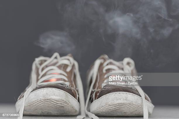 Smoke Rise From Canvas Sneaker