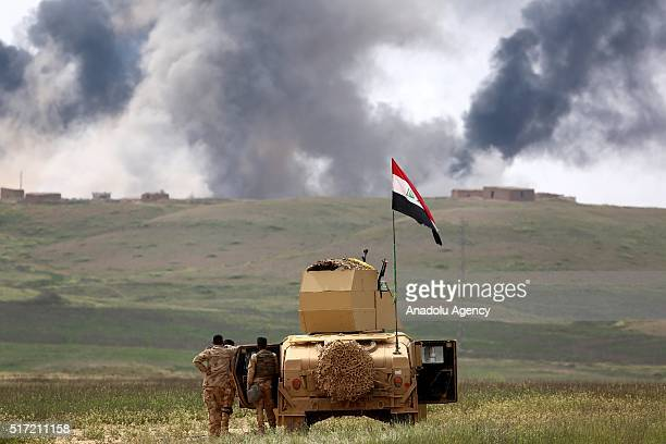Smoke rises after forces under Joint Mosul Command begin first phase of Operation Conquest to retake Iraq's Mosul from the terrorist organization...
