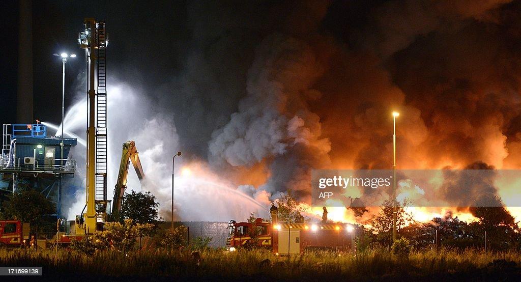 SWEDEN-DISASTER-FIRE-MALMO : ニュース写真