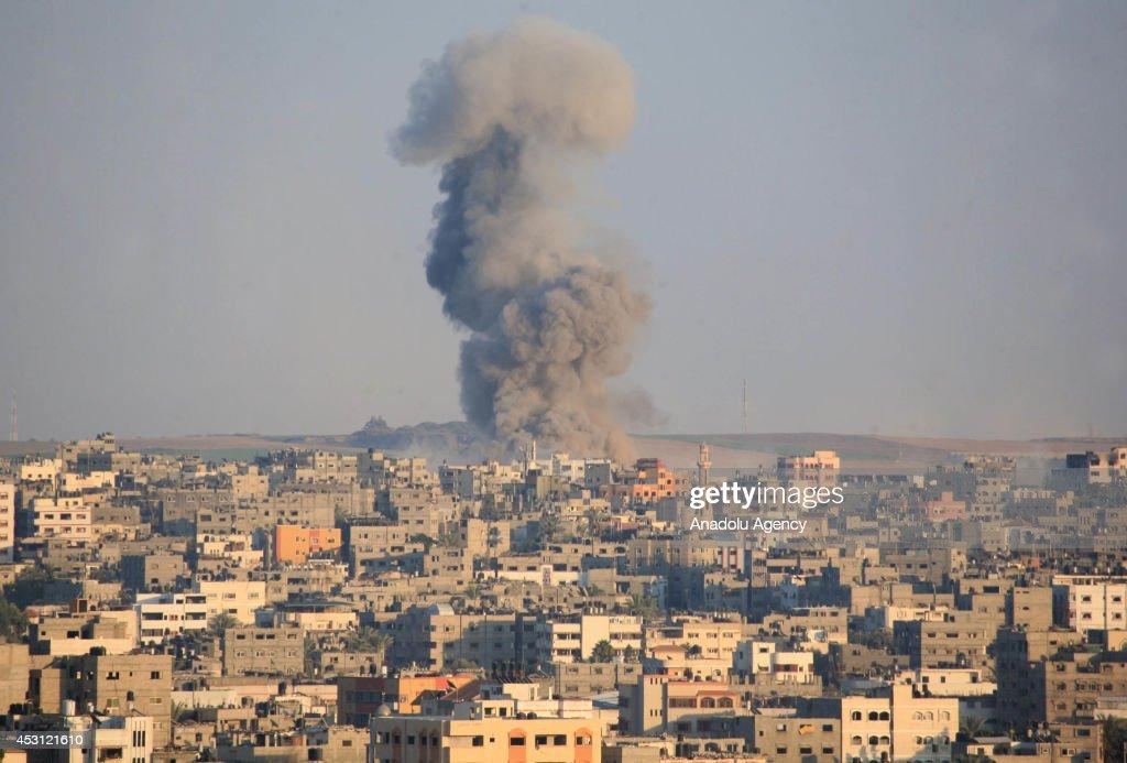 Israeli strikes hit Gaza City : News Photo