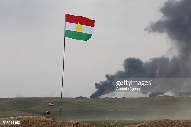 Smoke rises from Nesir village of Mosul after forces under Joint Mosul Command begin first phase of Operation Conquest to retake Iraq's Mosul from...