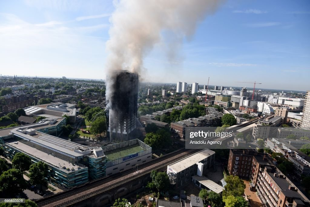 Massive fire breaks out at London apartment building : News Photo