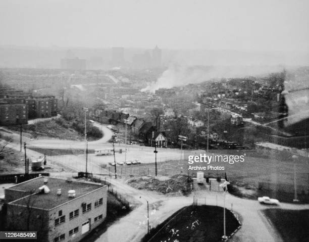 Smoke rises from the city during the race riots in Newark, New Jersey, in July 1967. The riots were sparked by the beating of cab driver John William...
