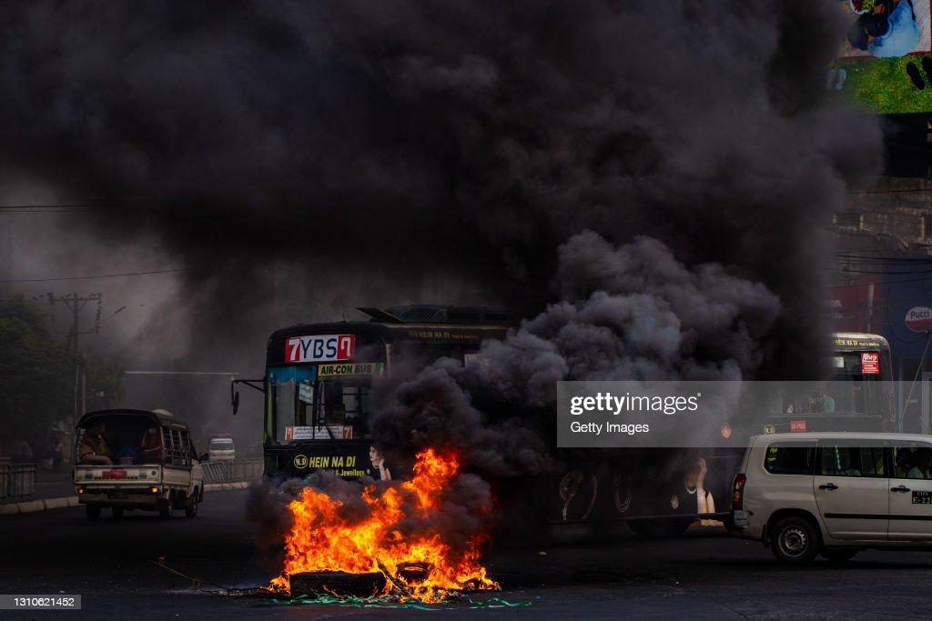 Myanmar Protests Continue Despite Escalating Deadly Crackdown : News Photo